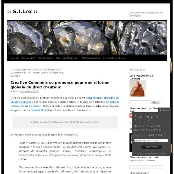 Creative Commons se prononce pour une réforme globale du droit d'auteur