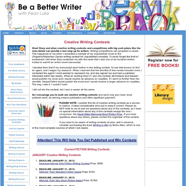 free to enter writing contests