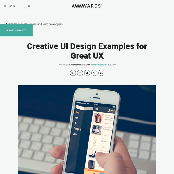 Creative UI Design Examples for Great UX