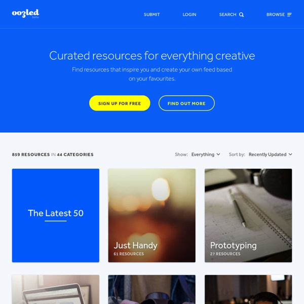 Curated creative design and development resources