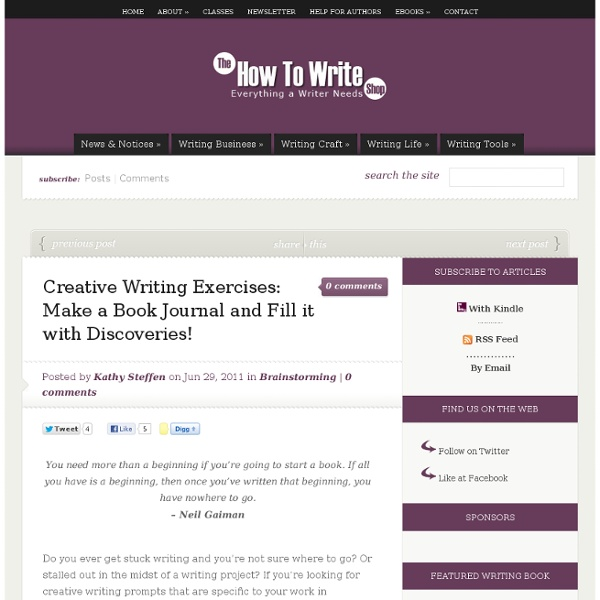 Creative Writing Exercises: Make a Book Journal and Fill it with Discoveries!
