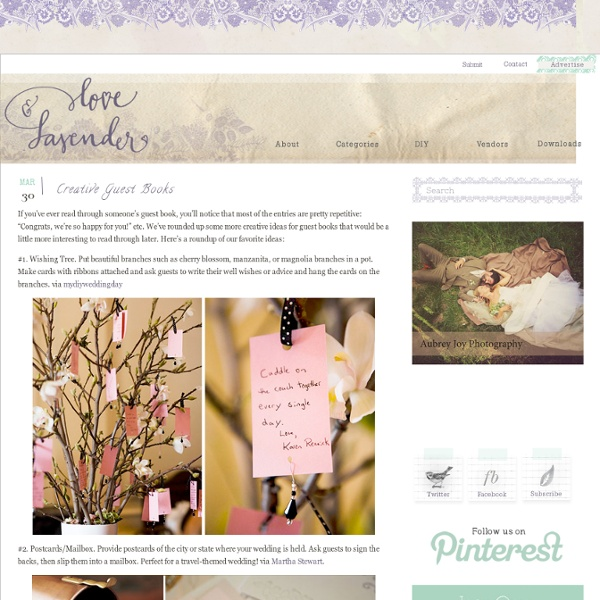 Creative Guest Books & Love and Lavender - StumbleUpon