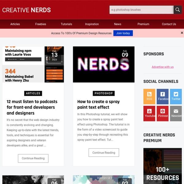 Design Inspiration, Freebies and Tutorials - Creative Nerds