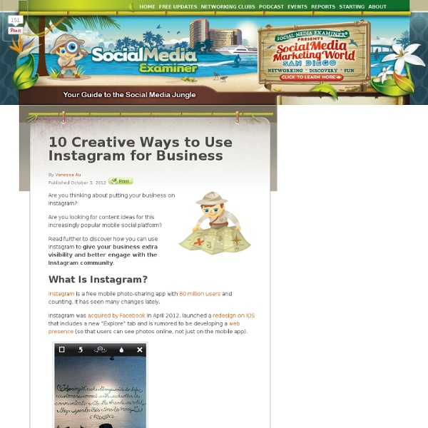 10 Creative Ways to Use Use Instagram for Business