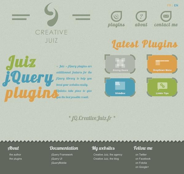 Creative Juiz, Plugins jQuery