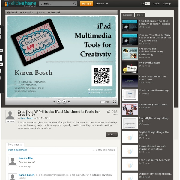 Creative APP-titude: iPad Multimedia Tools for Creativitity