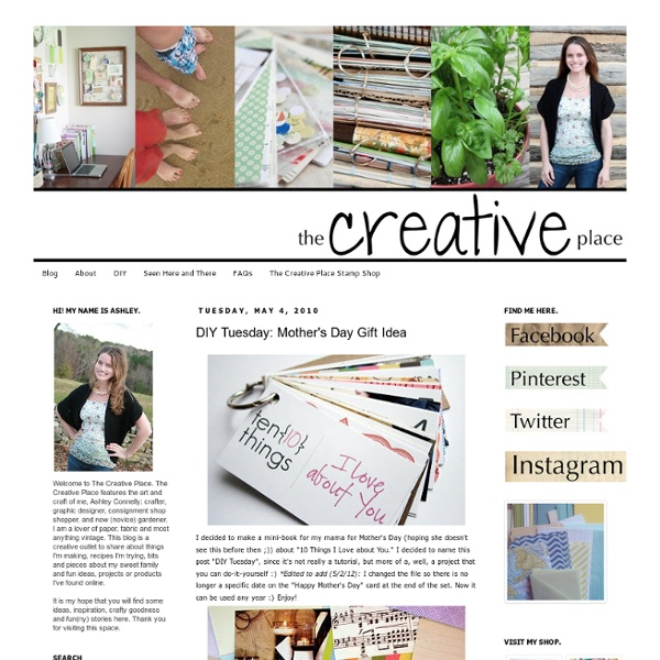 The Creative Place: DIY Tuesday: Mother's Day Gift Idea
