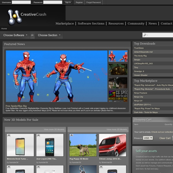 Creative Crash : High Quality 3D Models, Scripts, Plugins and More! :