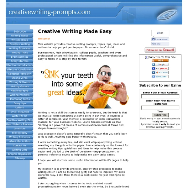 Creative Writing: Topics, Tips & Guidelines