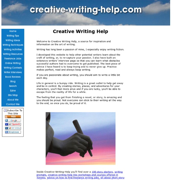 Creative Writing Help & Inspiration