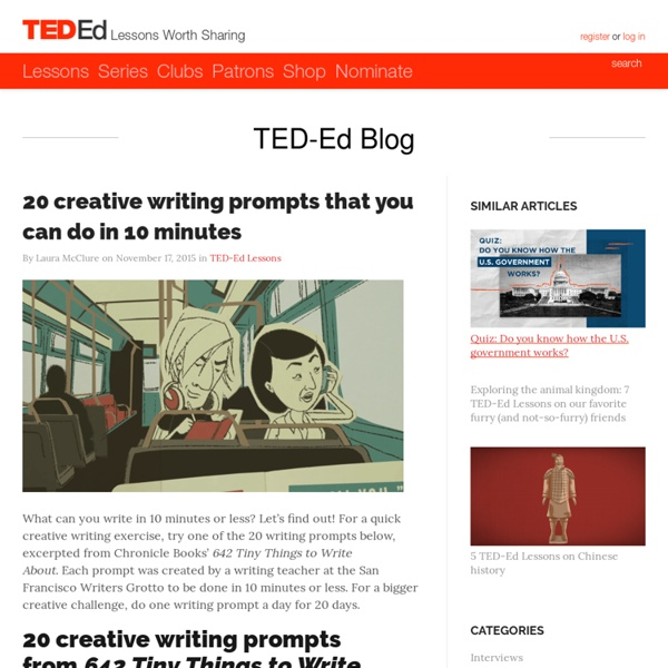 Creative writing prompts that you can do in 10 minutes