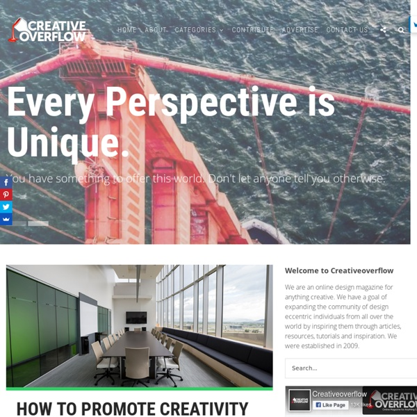 Creativeoverflow - Design Blog for Anything Creative