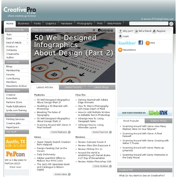 Graphic Design and Photography Software, Reviews, Tutorials, News, and Resources