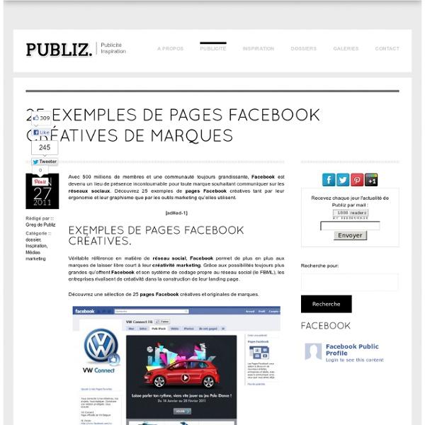 25 exemples de pages Facebook créatives de marques