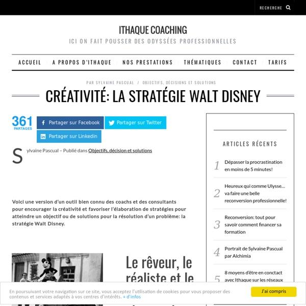 Créativité: la stratégie Walt Disney