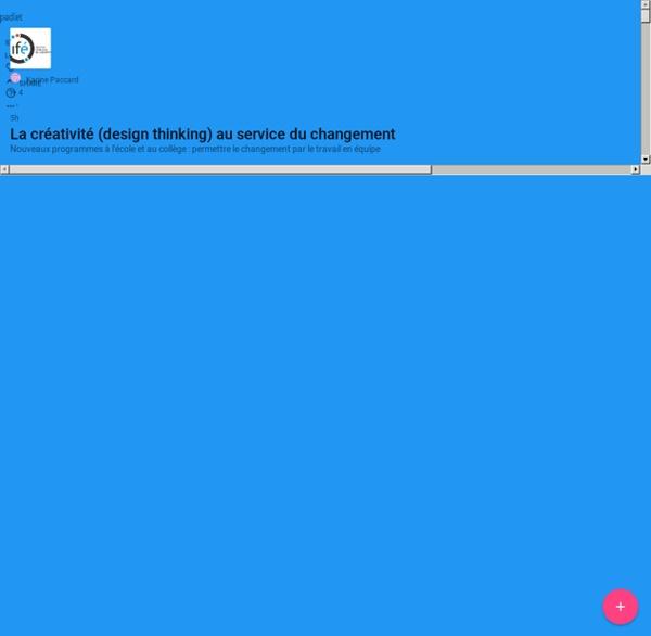 La créativité (design thinking) au service du changement