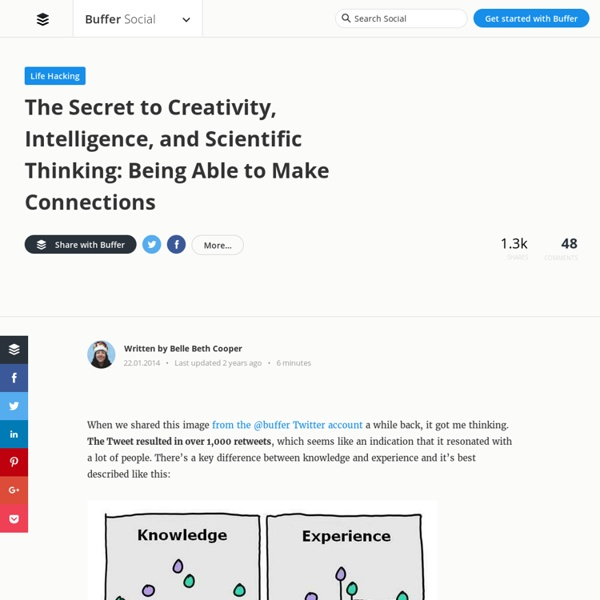 The Secret to Creativity, Intelligence, and Scientific Thinking: Being Able to Make Connections -