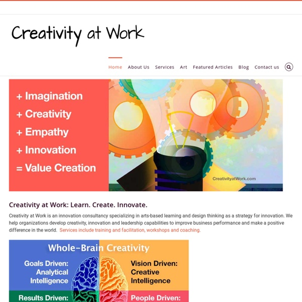 Creativity & Innovation Consulting, Executive education, Training, Coaching innovators, Speaking