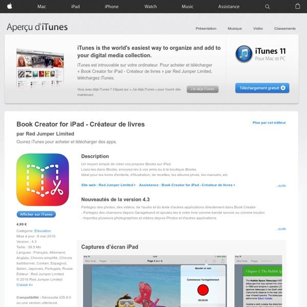 Book Creator for iPad - Créateur de livres pour iPhone, iPod touch et iPad dans l'App Store sur iTunes