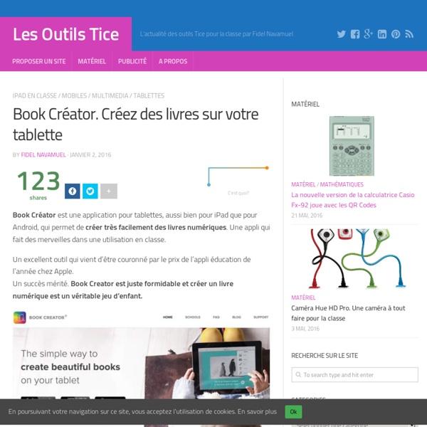 Book Créator. Créez des livres sur votre tablette – Les Outils Tice