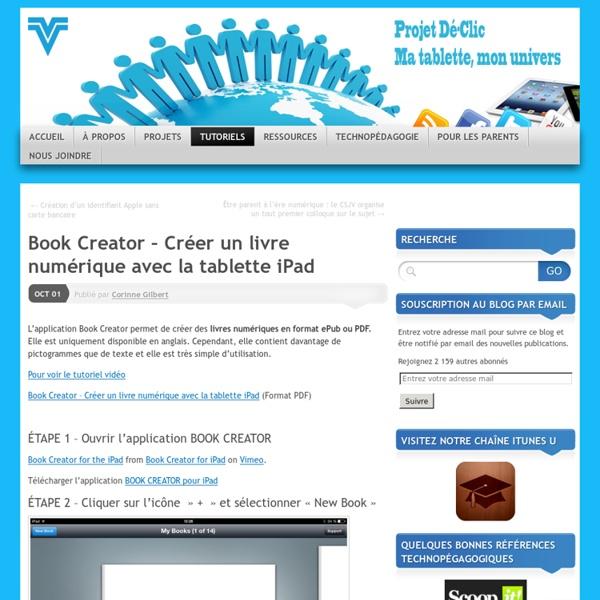 Book Creator – Créer un livre numérique avec la tablette iPad
