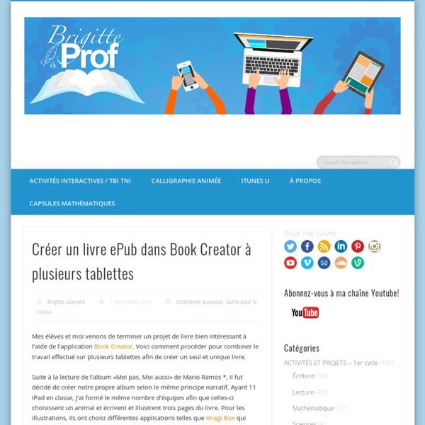 Créer un livre ePub dans Book Creator à plusieurs tablettes