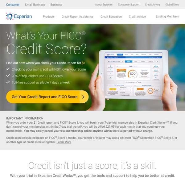 Get Your Credit Score And Check Your Report: Credit Report, Credit Score And Credit Check From Experian