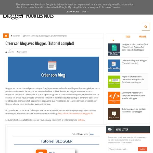 Créer son blog avec Blogger. (Tutoriel complet) ~ Blogger Pour Les Nuls