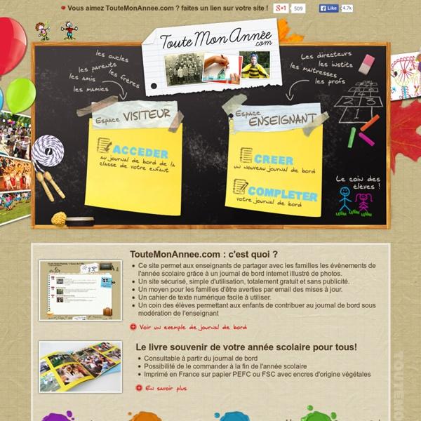 Créer des blogs pour votre école et vos classes ! - TouteMonAnnee.com