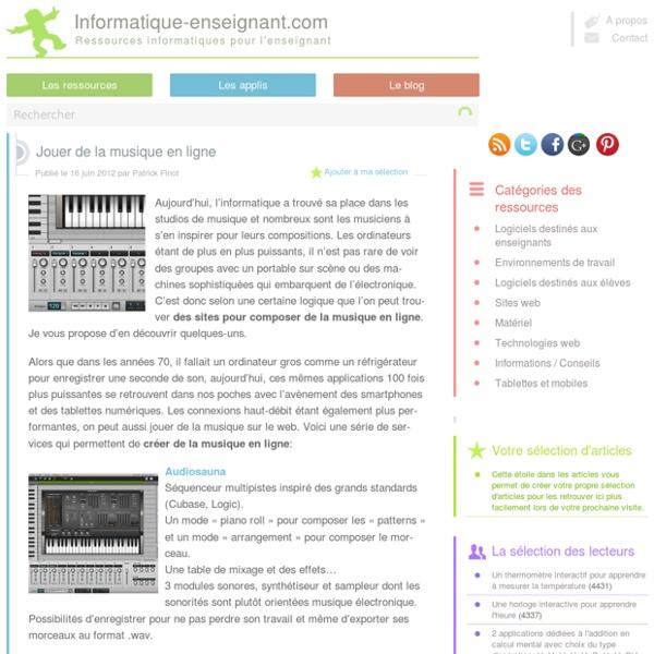 Créer de la musique en ligne