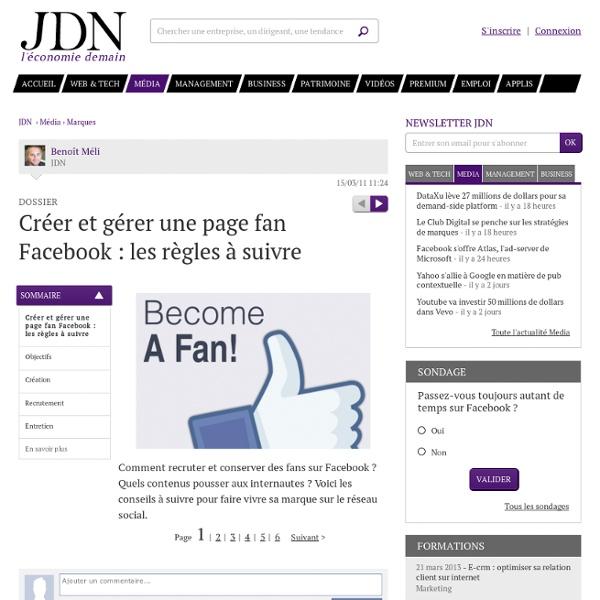 Page fan Facebook : les règles à suivre