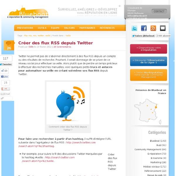 Créer des flux RSS depuis Twitter
