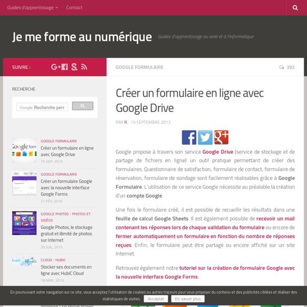 Créer un formulaire avec Google Drive