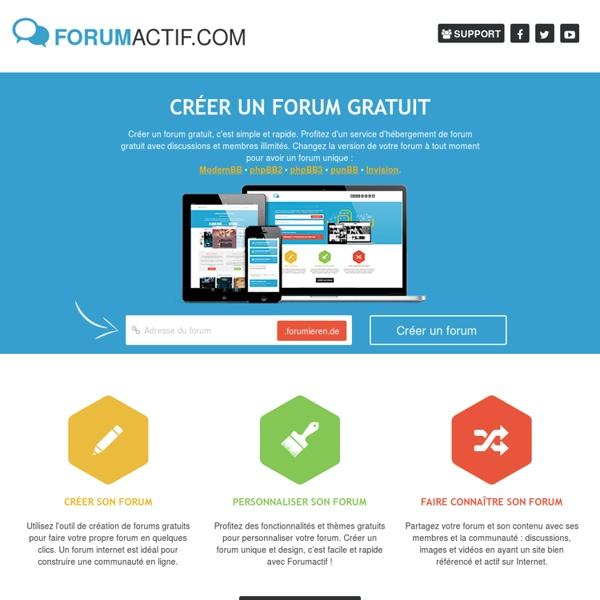 Créer un forum gratuit - FORUMACTIF.com