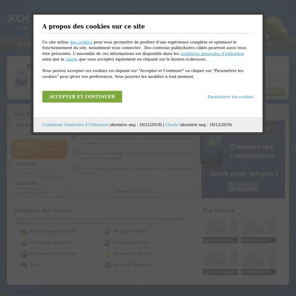 Créer un forum gratuit - xooit.com