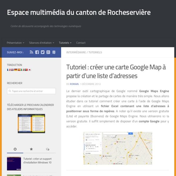 Créer une carte Google Map à partir d'une liste d'adresses