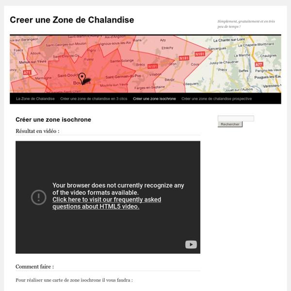 Creer une Zone de Chalandise