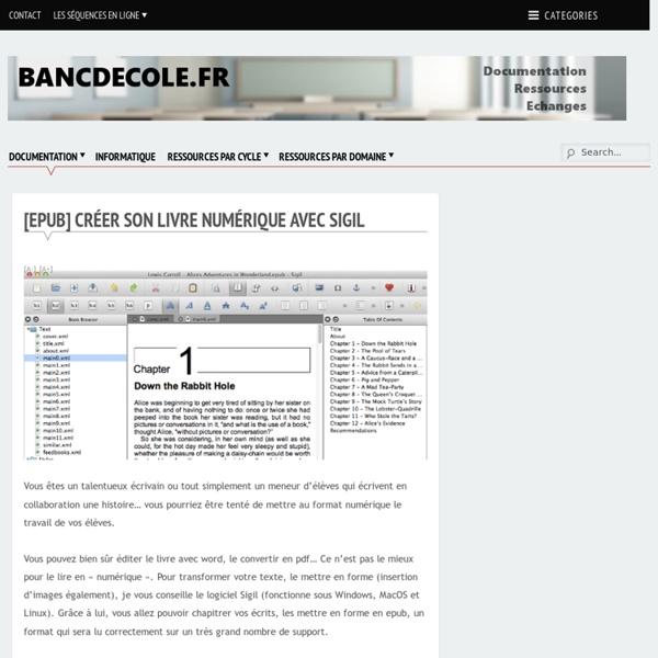 [epub] Créer son livre numérique avec Sigil