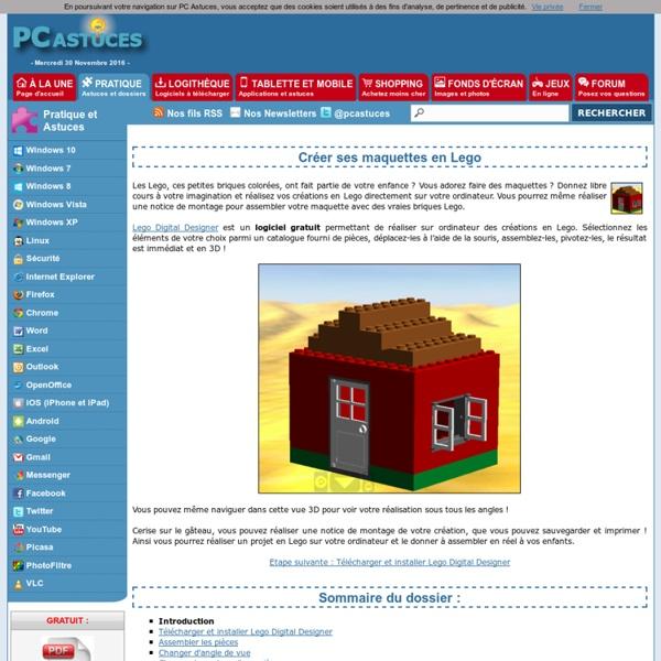 Créer ses maquettes en Lego