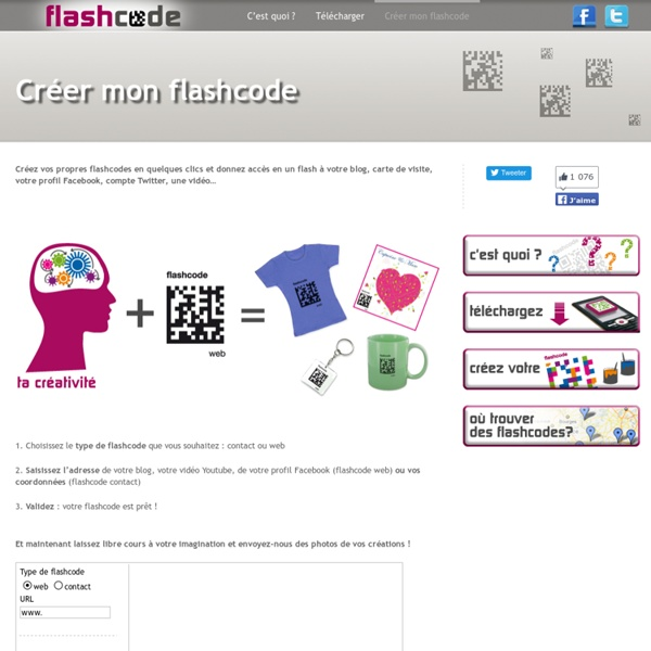 Créez votre flashcode en quelques clics !