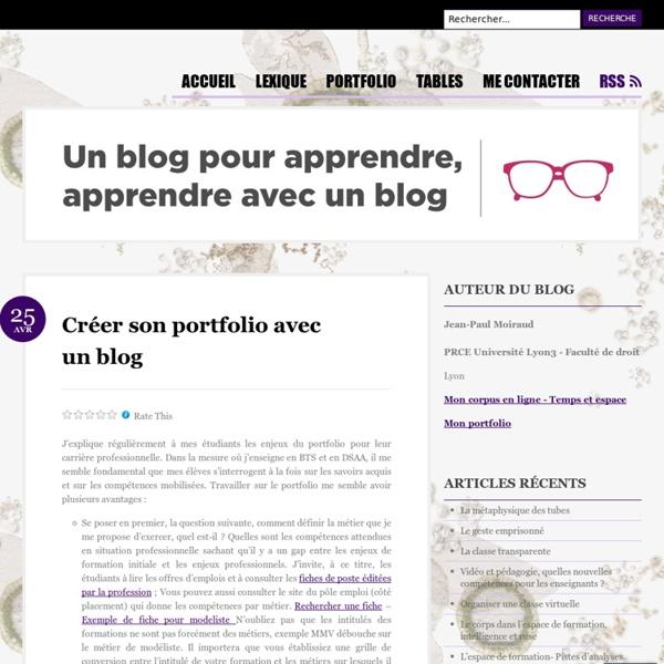 Créer son portfolio avec un blog (témoignage JPMoiraud)