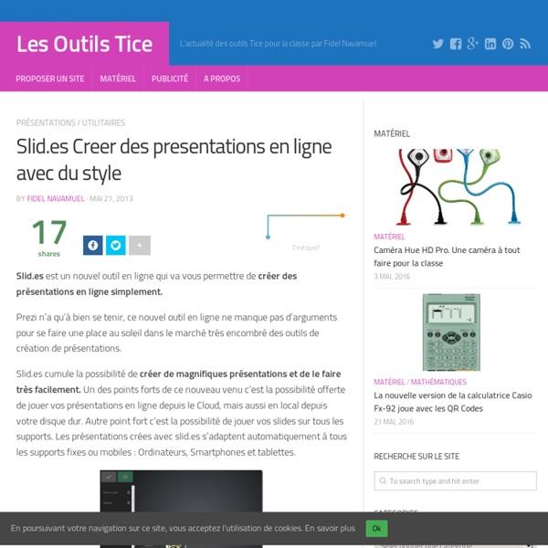 Slid.es Creer des presentations en ligne avec du style