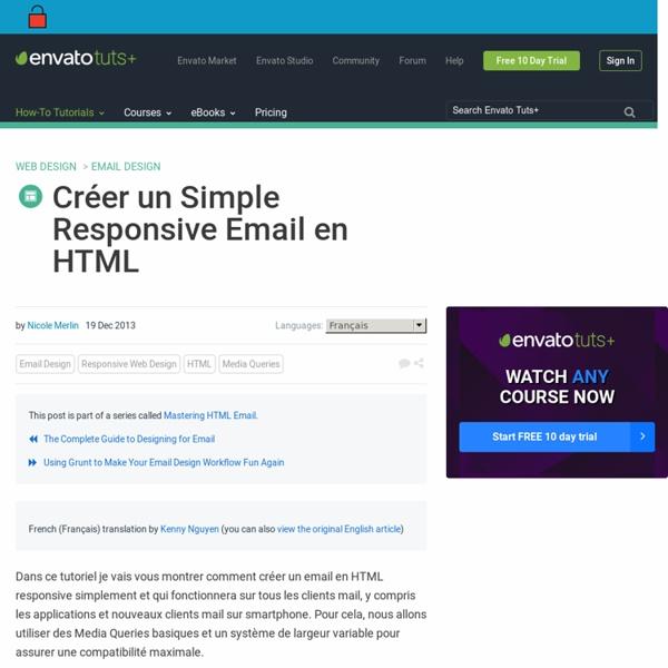 Créer un Simple Responsive Email en HTML