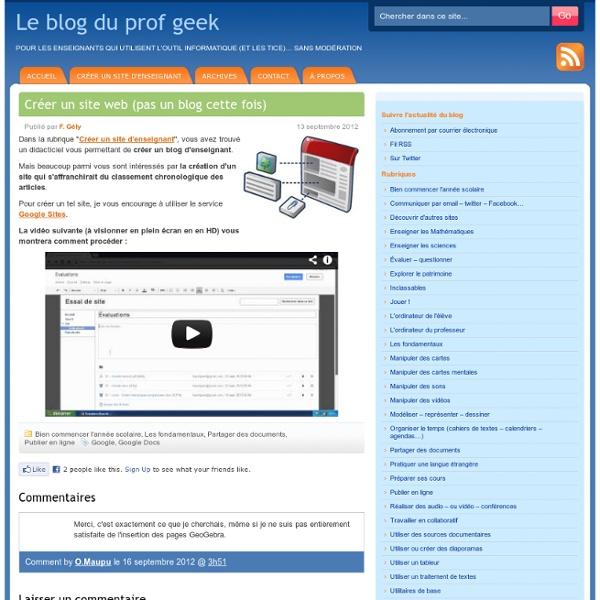 Créer un site web (pas un blog cette fois)