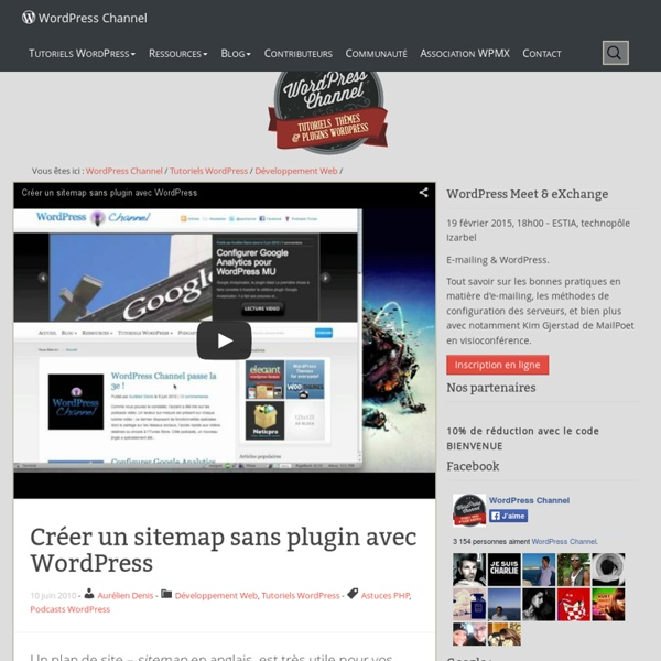 Créer un sitemap sans plugin avec WordPress