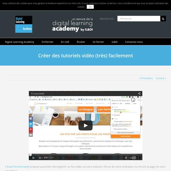 Créer des tutoriels vidéo (très) facilement