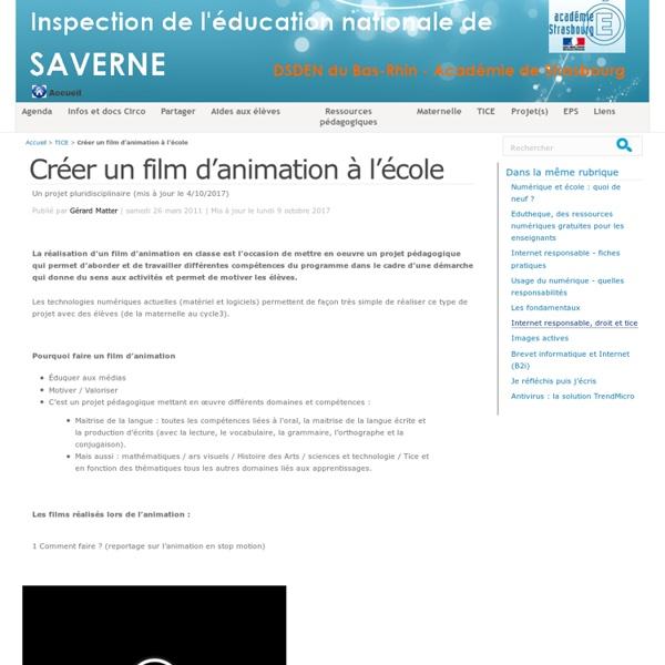 Créer un film d'animation à l'école