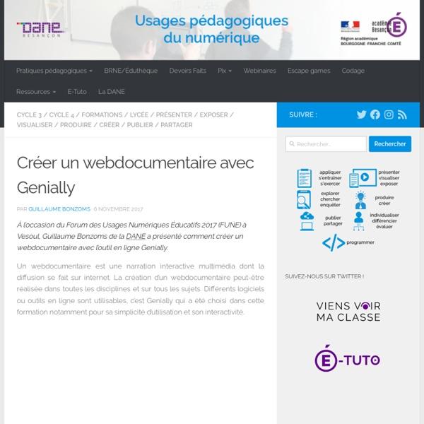 Usages pédagogiques du numérique - DANE Besançon