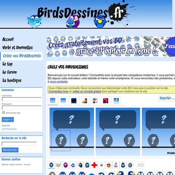 Créez vos BirdsDessinés