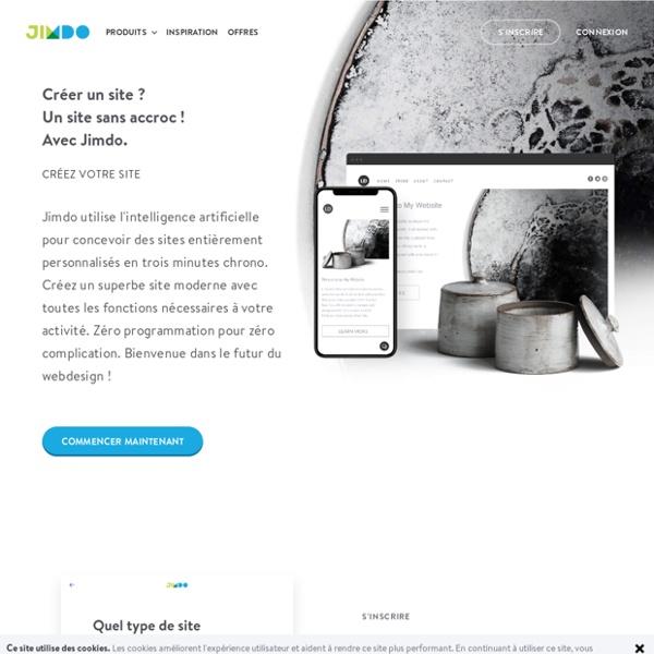 Créer un site web facilement - 100% compatible mobile - Jimdo